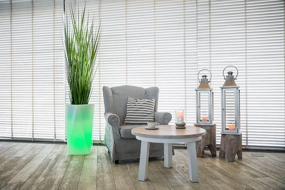 led lighting flower pots