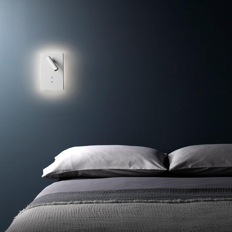 Podwójny kinkiet do sypialni