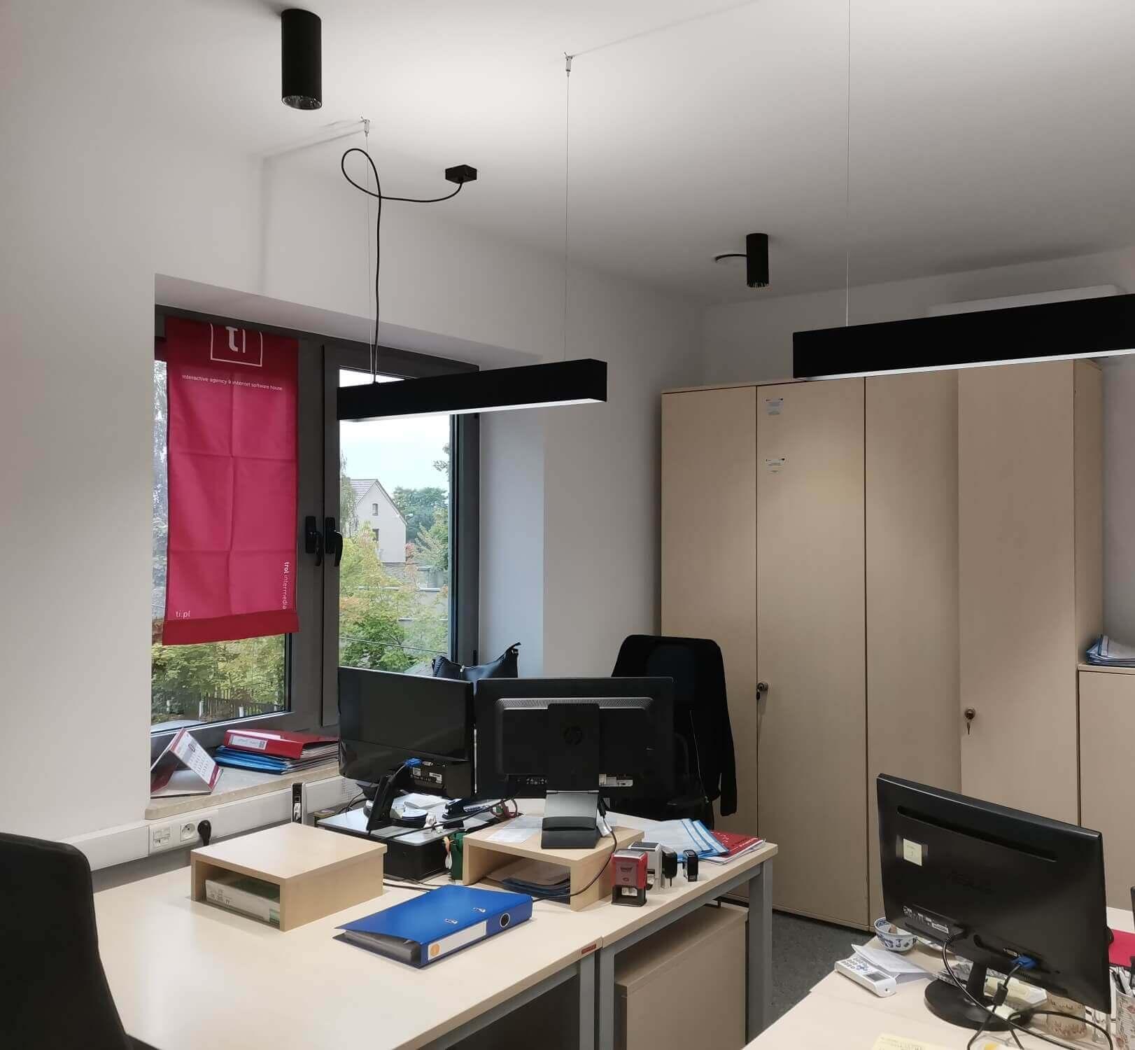 LED lampa wisząca do biura nad biurka