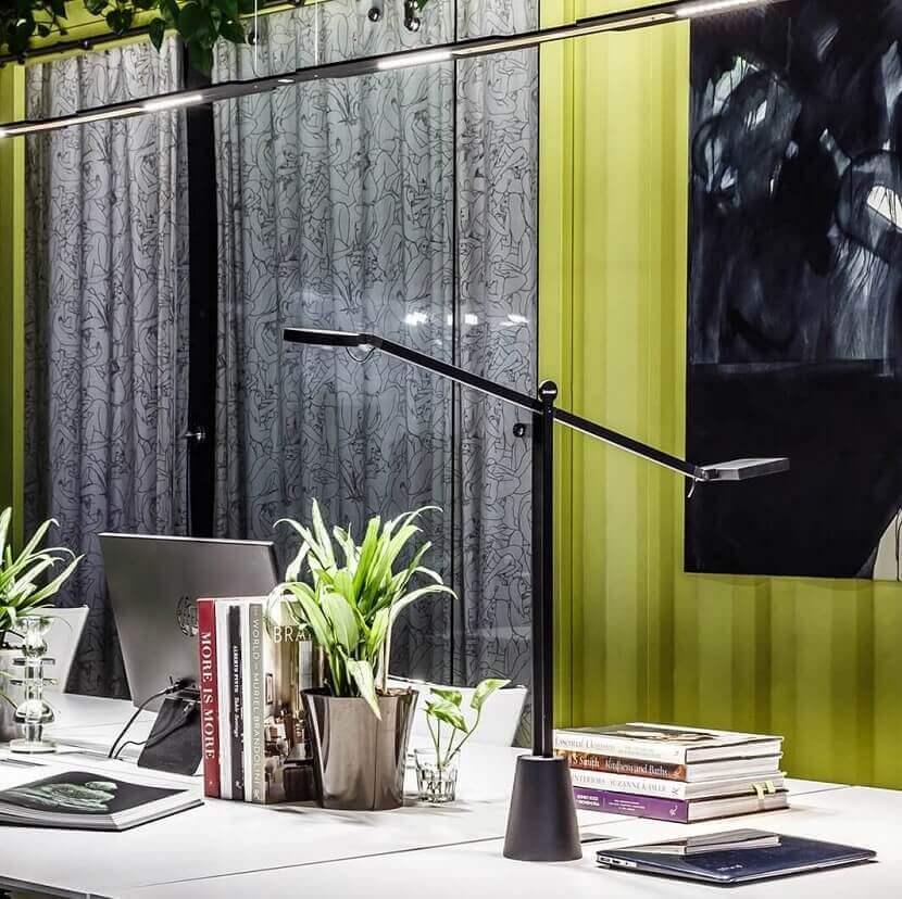 Professional and designer black desk LED lamp