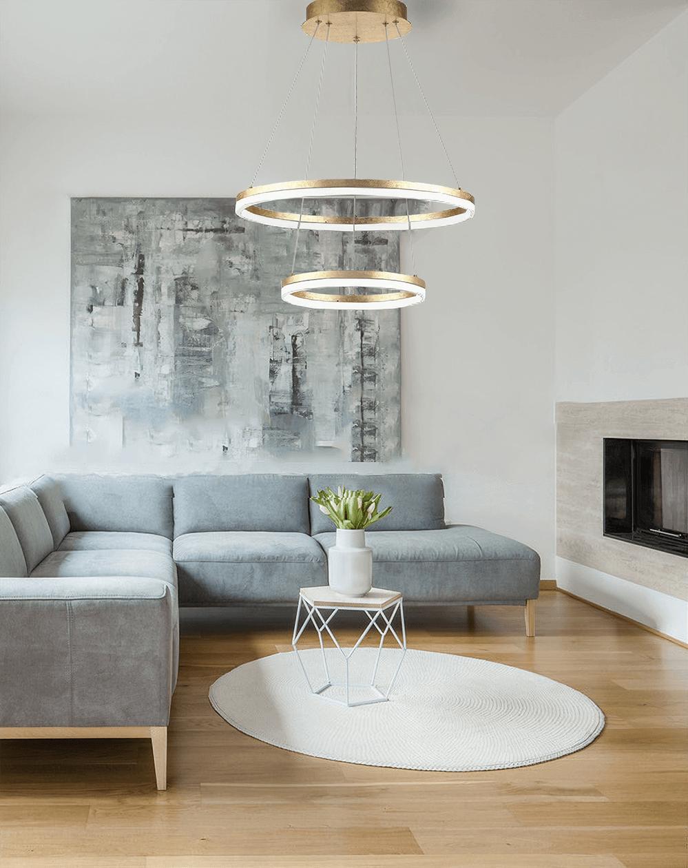 Lampa wisząca LED nad wypoczynek