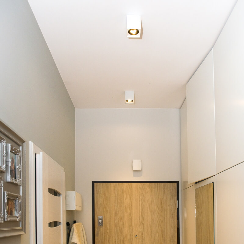 Oprawy sufitowe natynkowe do korytarza