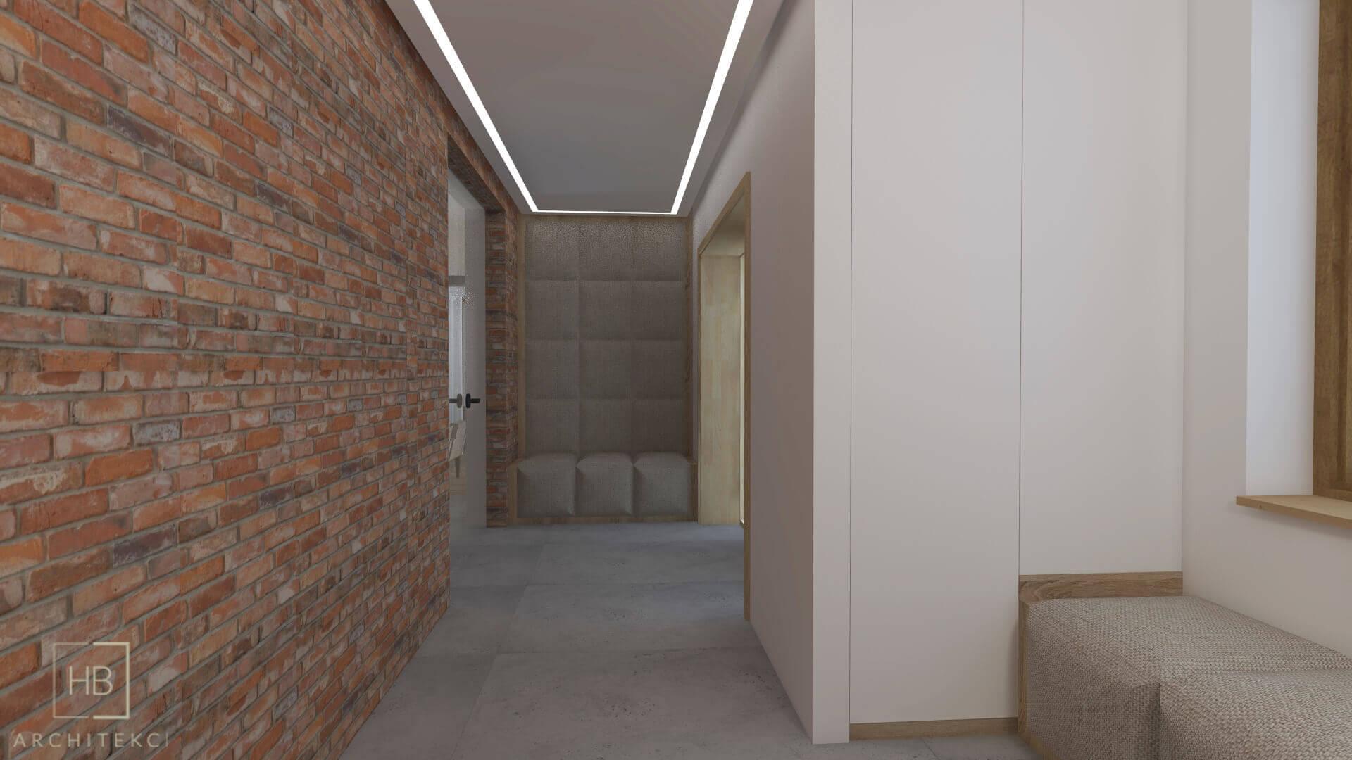 Oświetlenie liniowe w korytarzu