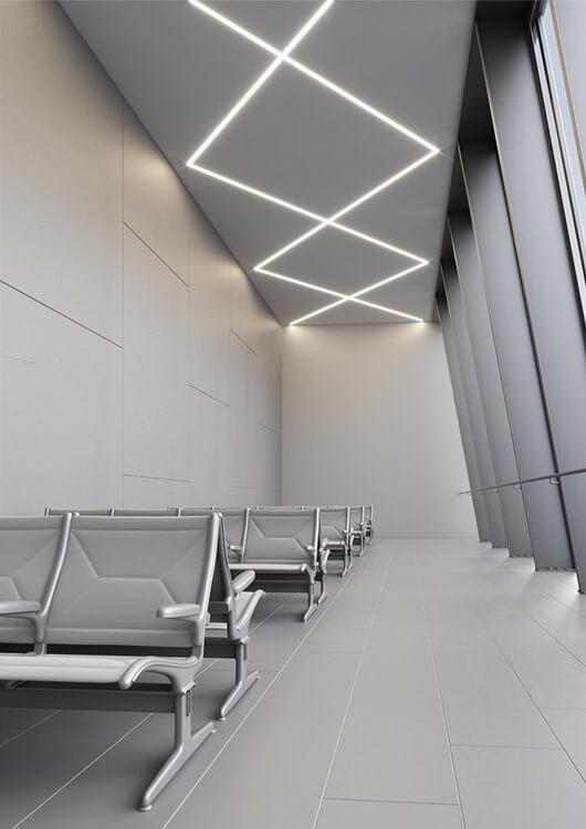 Profil aluminiowy do wbudowania w sufit