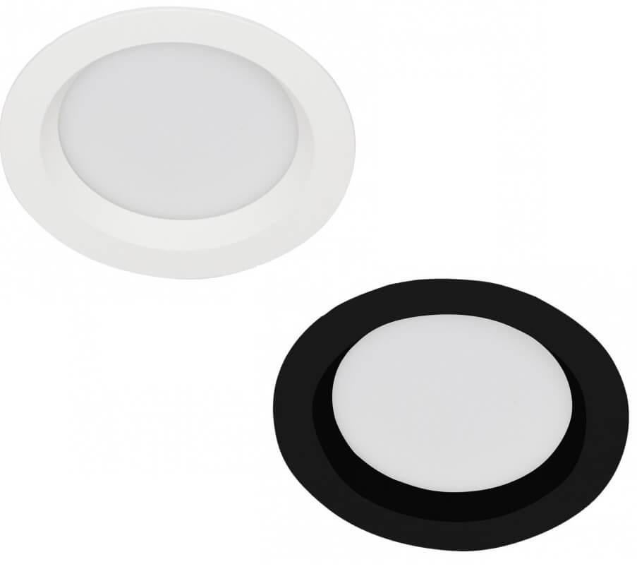 Okrągła oprawa wpuszczana IP44 biała, czarna