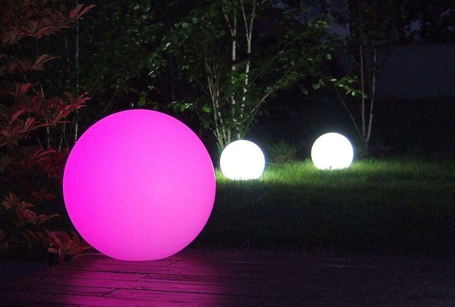 ogrodowe kule LED RGB
