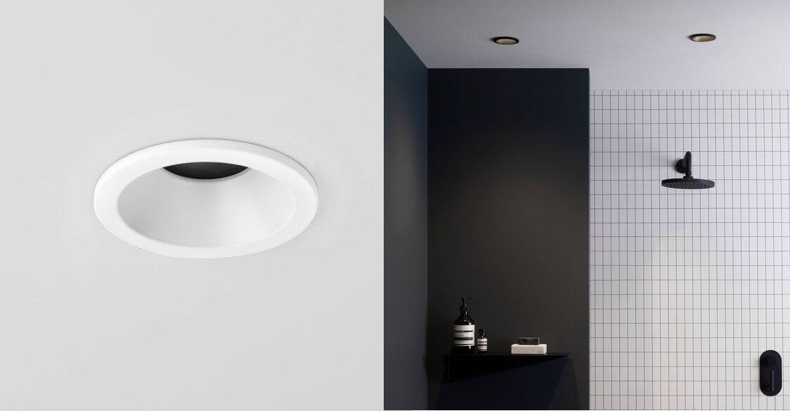 Biała, czarna oprawa do łazienek wodoszczelna