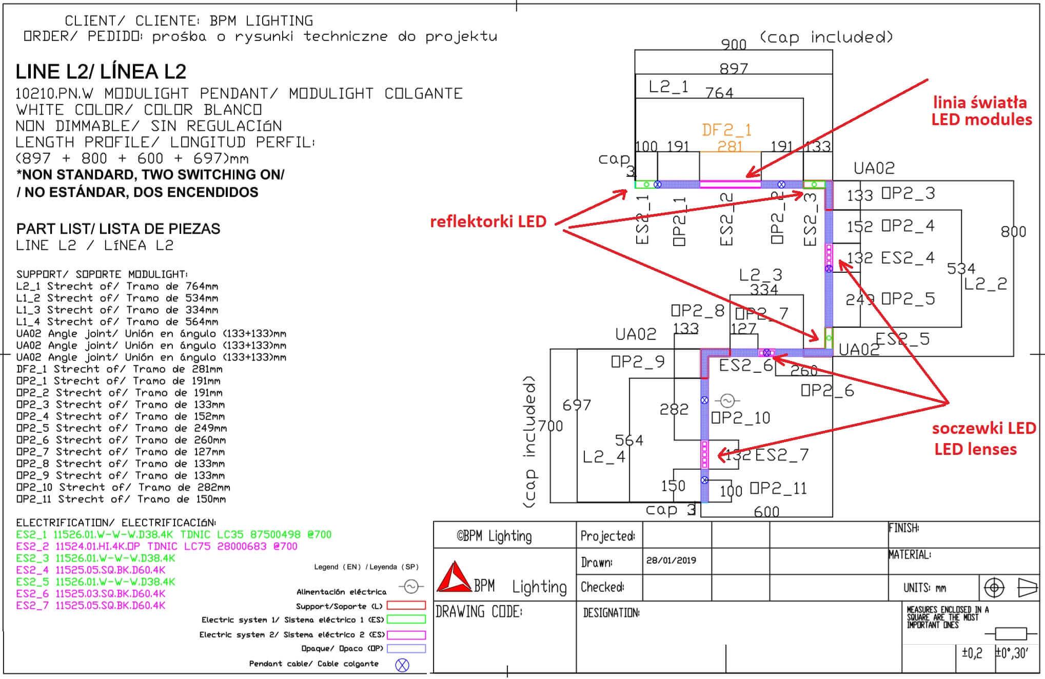 Projekt systemu BPM Modulight