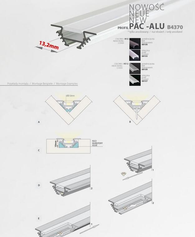 montaż profilu PAC
