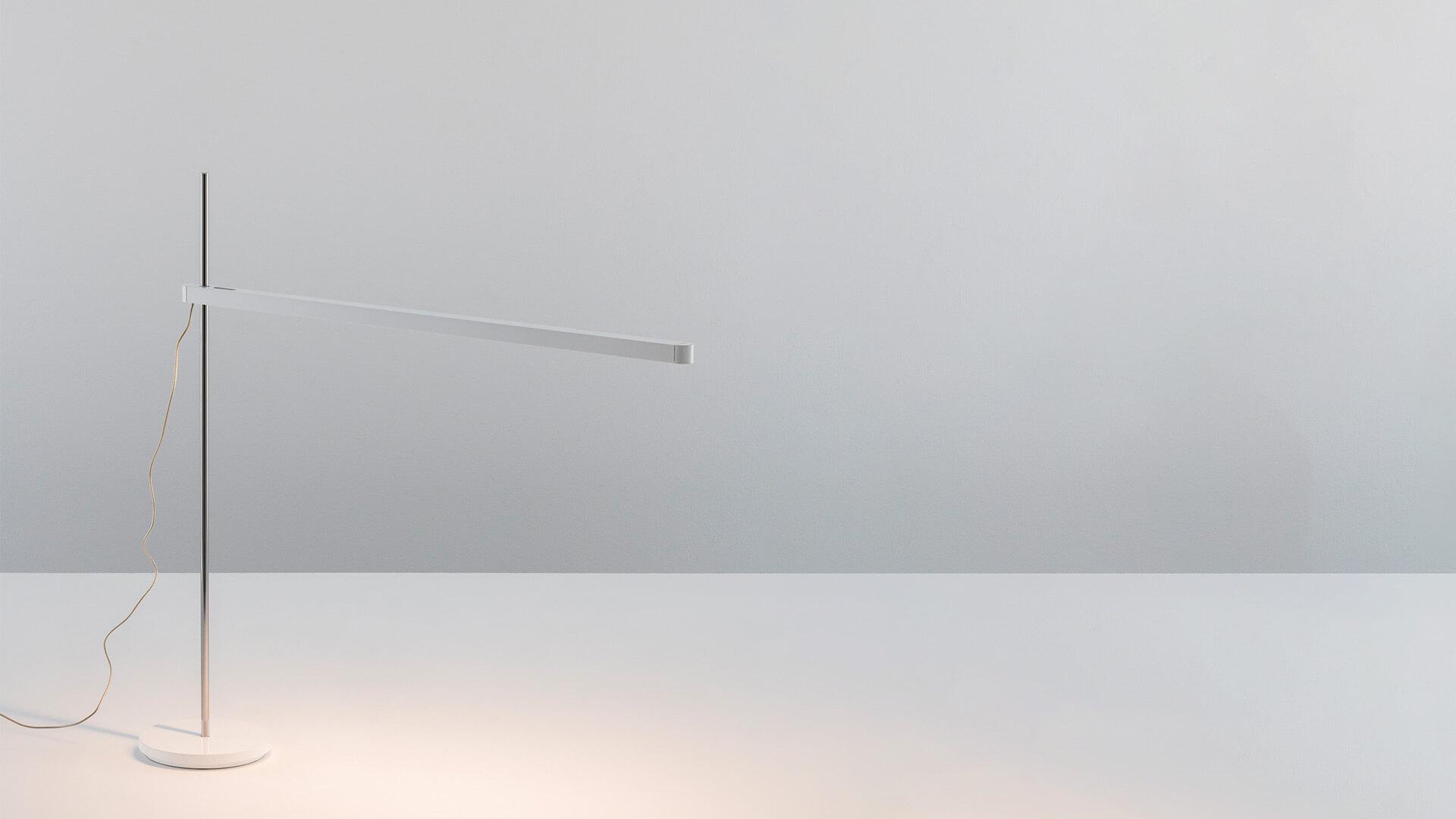 Modern desk LED lamp white Artemide Talak