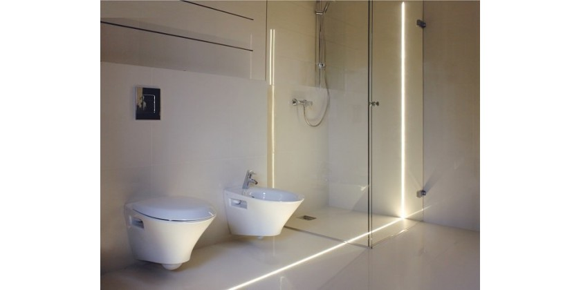 Waterproof LED profiles for the bathroom
