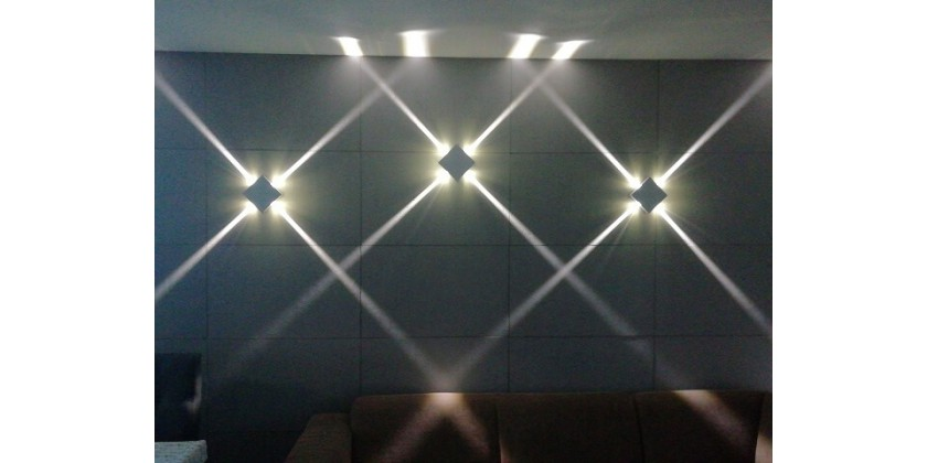 Modern wall LED lights with light line