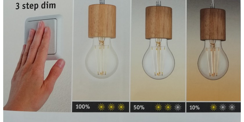Dimming systems for lamps LED