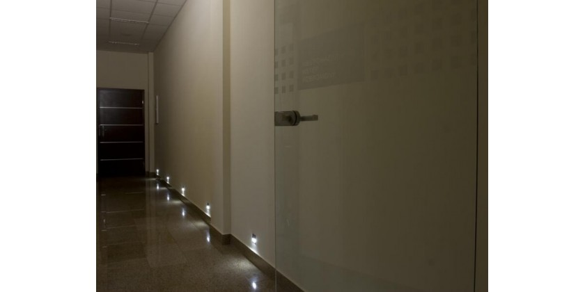 Discreet stair and corridor lighting - LED lamps