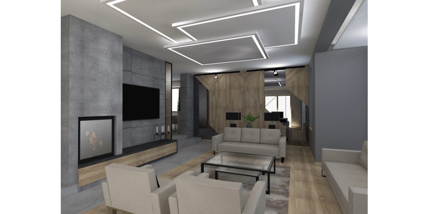 Built-in profiles - stylish linear lighting
