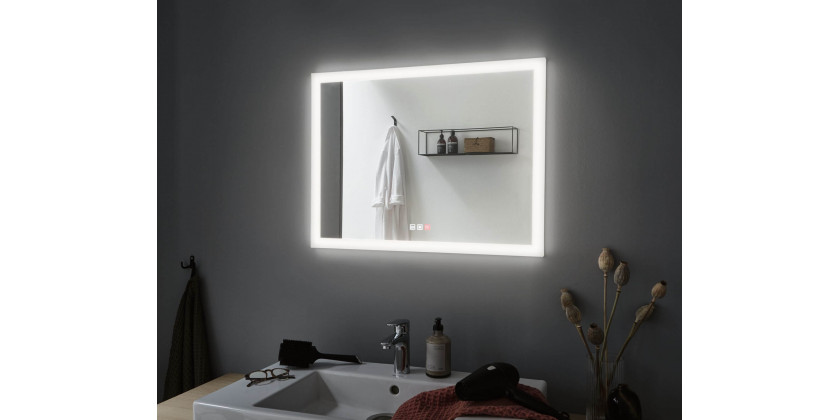 Modern illuminated bathroom mirrors with the function of changing the light color